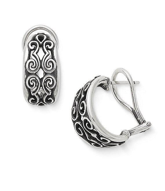 James Avery Scrolled French Clip Earrings
