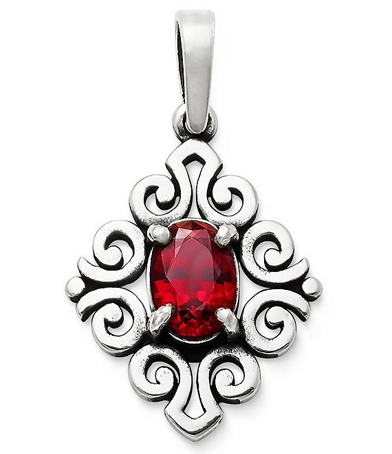 James Avery July Birthstone Scrolled Pendant