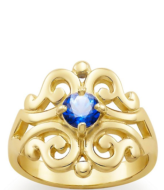 James Avery Spanish Lace Ring September Birthstone with Lab-Created Blue Sapphire