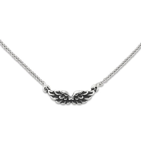 Color:Sterling Silver - Image 1 - Take Flight Wing Necklace