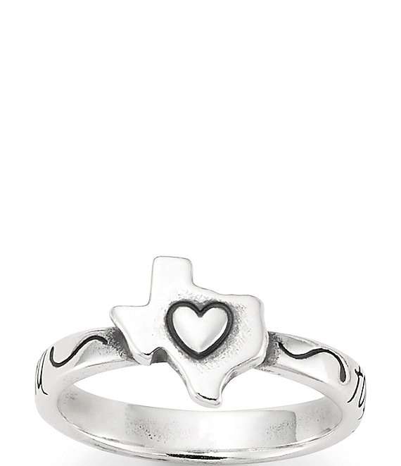 Color:Sterling Silver - Image 1 - Texas Together We Stand Strong Ring