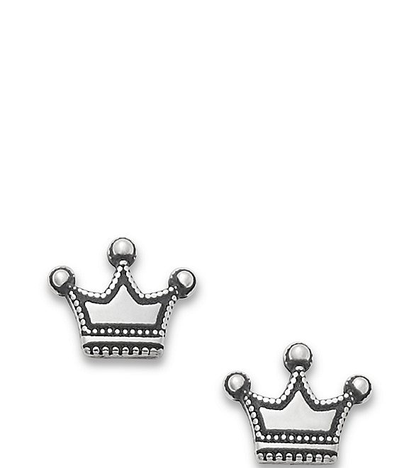 James Avery Tiny Crown Ear Posts
