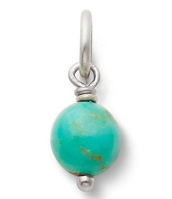 Color:Sterling Silver/Turquoise - Image 1 - Turquoise Bead Charm