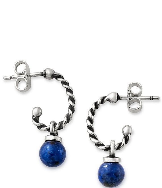 James Avery Twisted Wire Ear Posts with Sodalite Bead
