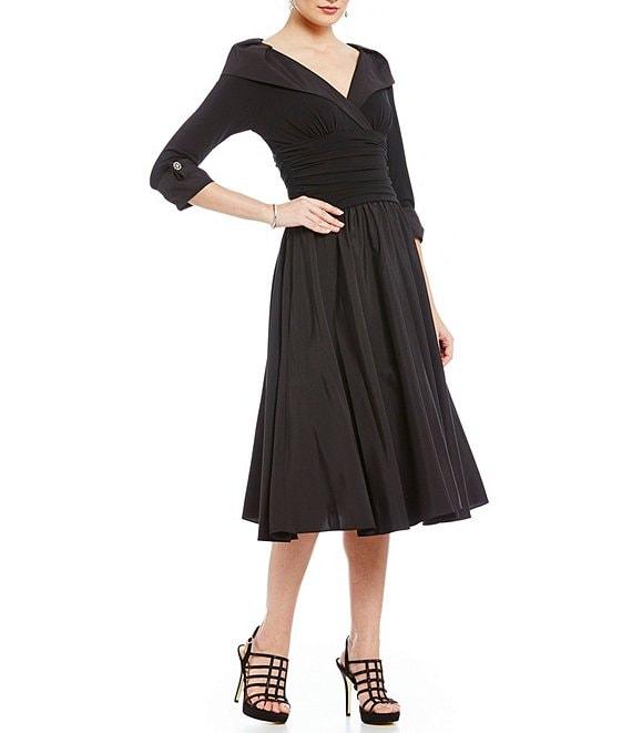 131cbc756682 Jessica Howard Portrait Collar Midi Dress