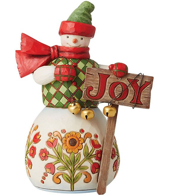 Jim Shore Country Living Collection Snowman With Sign Figurine