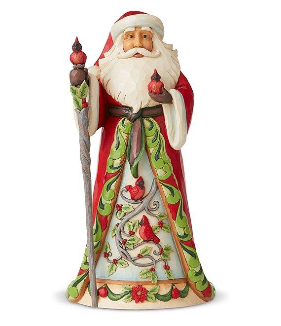 Jim Shore Heartwood Creek Collection Santa With Cardinal Scene Figurine Dillard S