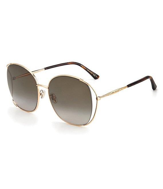 Color:Gold Brown - Image 1 - Tinka Square 61mm Sunglasses