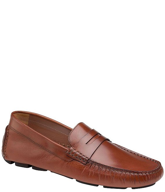 Color:Cognac - Image 1 - Collection Men's Dayton Penny Loafers