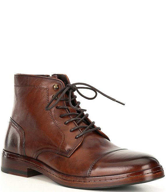 Langley Leather Cap Toe Boots