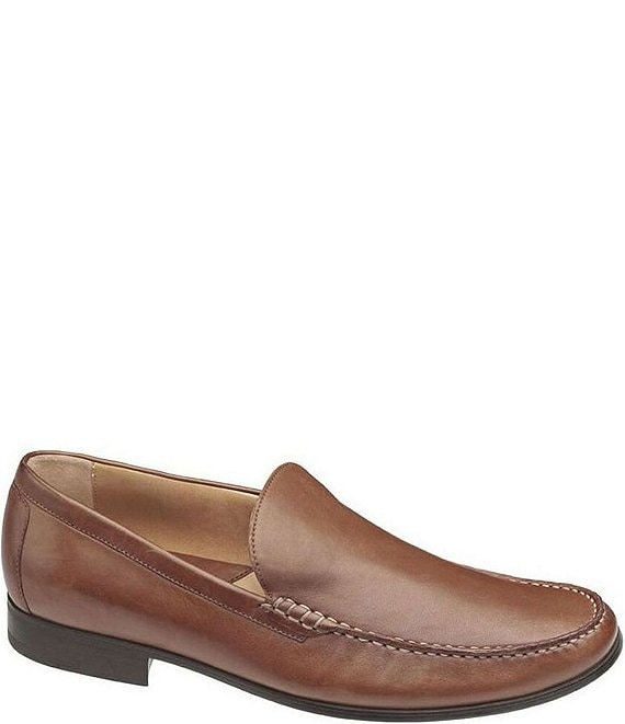 Color:Cognac - Image 1 - Men's Cresswell Venetian Moccasin Loafers