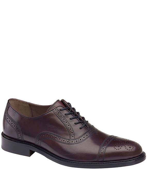 Johnston & Murphy Men's Daley Leather Cap Oxford
