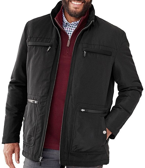 Johnston & Murphy XC4 Classic Fit Multi-Pocket Water-Resistant Full-Zip Jacket