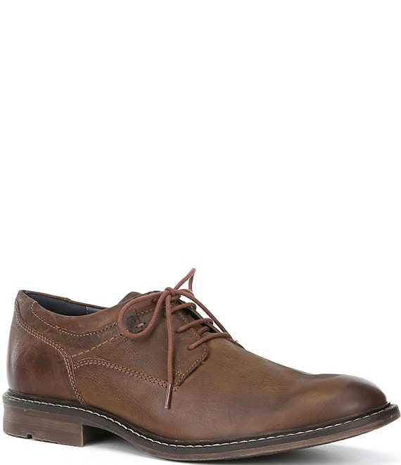 Color:Camel - Image 1 - Men's Earl 05 Leather Lace-Up Oxford