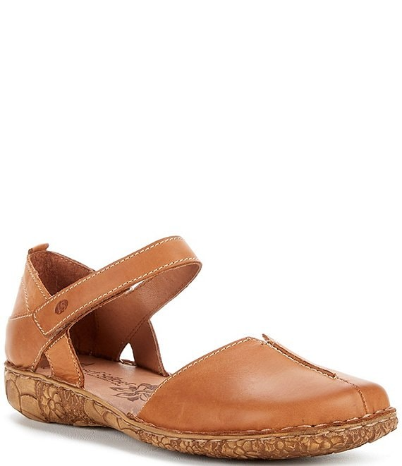 Color:Cognac - Image 1 - Rosalie 42 Leather Mary Janes