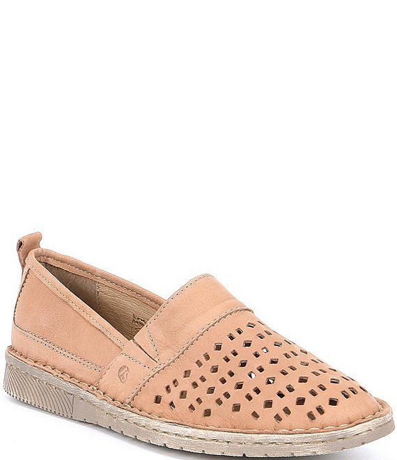 Color:Creme - Image 1 - Sofie 27 Leather Slip Ons