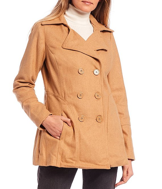 Color:Camel - Image 1 - Peacoat Jacket