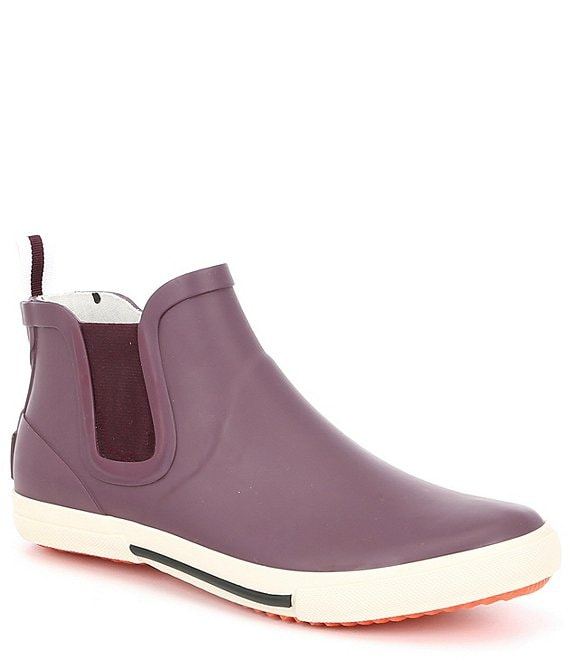 Color:Plum - Image 1 - Rainwell Rubber Ankle Booties