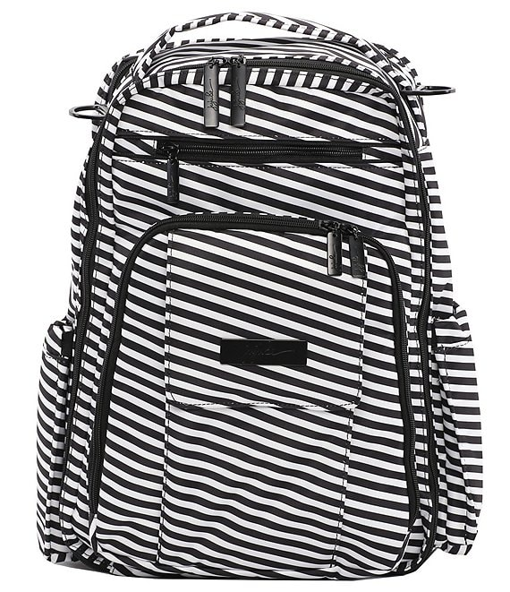 Ju-Ju-Be Be Right Back Black Striped Magic Backpack Diaper Bag