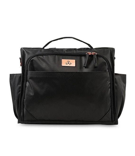 Color:Black Rose - Image 1 - Classical Convertible Black Rose Diaper Bag