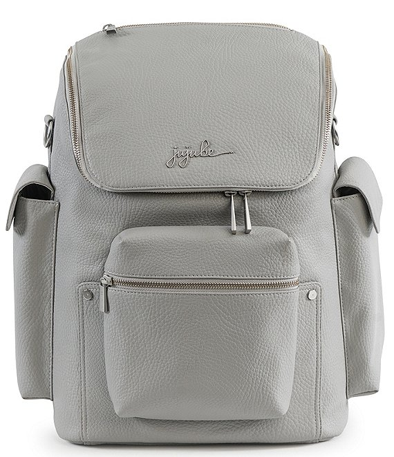 Color:Stone - Image 1 - Forever Backpack Faux Leather Diaper Backpack