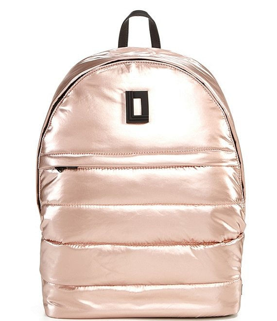 Color:Pearlized Light Silver - Image 1 - Frankie Nylon Puffer Backpack