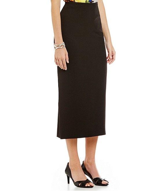 0364bcb73 Kasper Stretch Crepe Column Midi Skirt | Dillard's