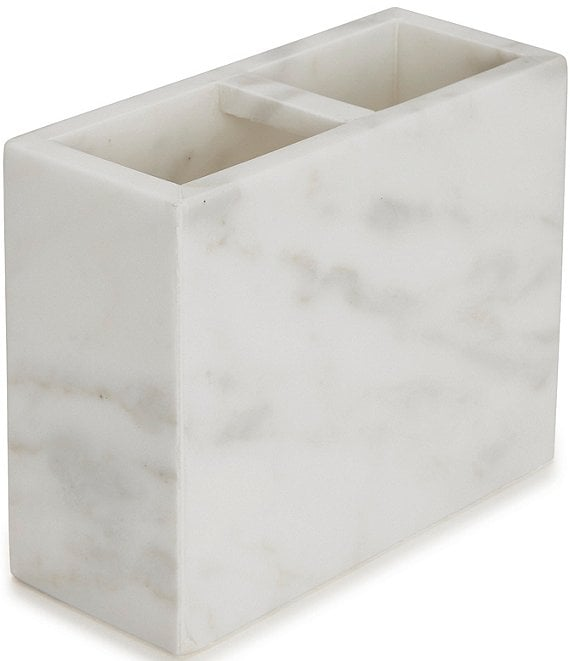 Color:White - Image 1 - Marmol Marble Toothbrush Holder
