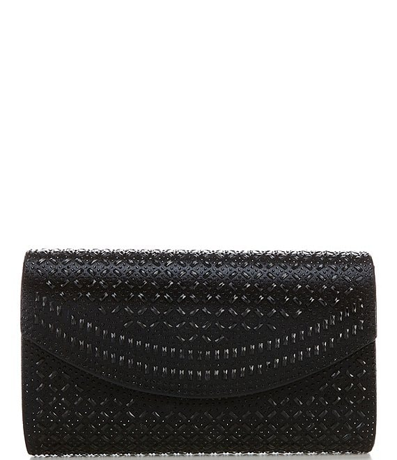 Kate Landry Heat Set Stone Curved Flap Clutch