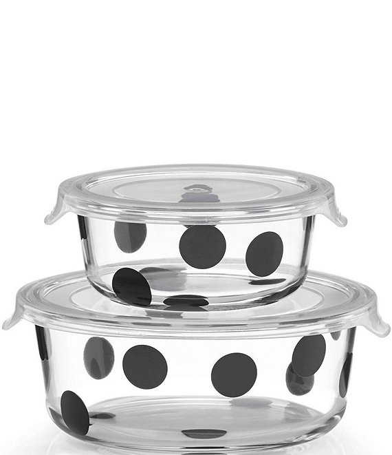 kate spade new york All in Good Taste Deco Dot Round Food Storage Container