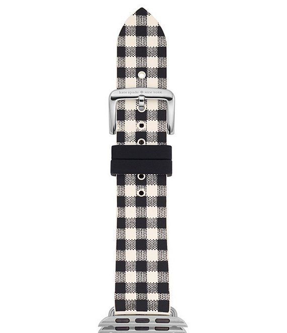 kate spade new york Black and White Silicone Apple Watch® Strap