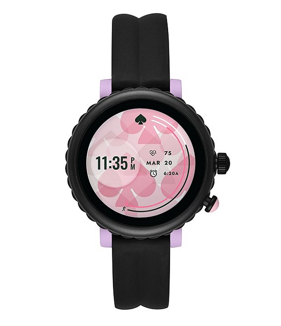 Color:Black - Image 1 - Black Silicone Strap Smart Watch