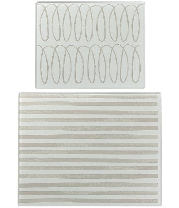 kate spade new york Charlotte Street Glass Prep Boards, Set of 2