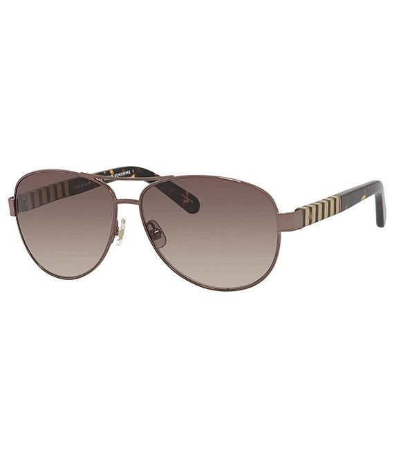 Color:Brown - Image 1 - Dalia Aviator Sunglasses