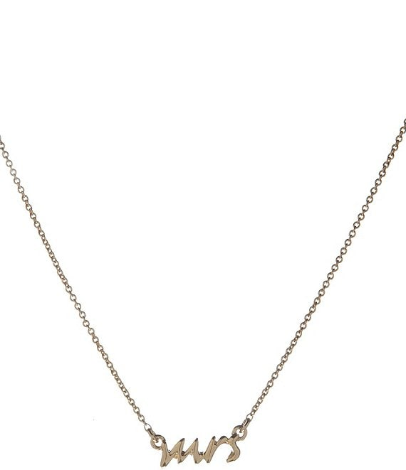 kate spade new york Delicate Mrs. Necklace