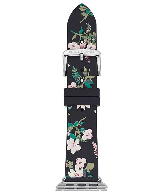 kate spade new york Black Floral Silicone Apple Watch® Strap