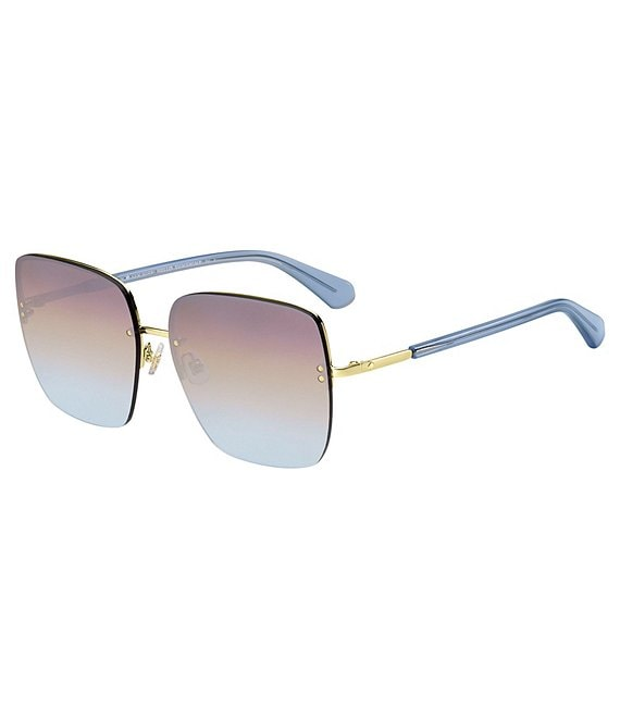 Color:Blue Green - Image 1 - Janay Square Sunglasses