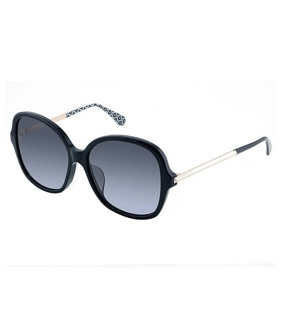 Color:Black - Image 1 - Kaiya Large Square Sunglasses
