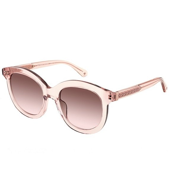 Color:Crystal - Image 1 - Lillian Rounded Sunglasses