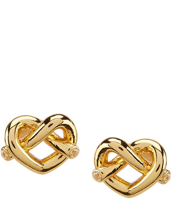 Color:Gold - Image 1 - Love Me Knot Stud Earrings