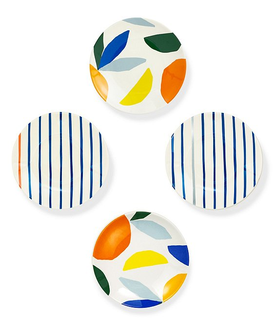 kate spade new york Melamine Citrus Twist Tidbit Plates, Set of 4