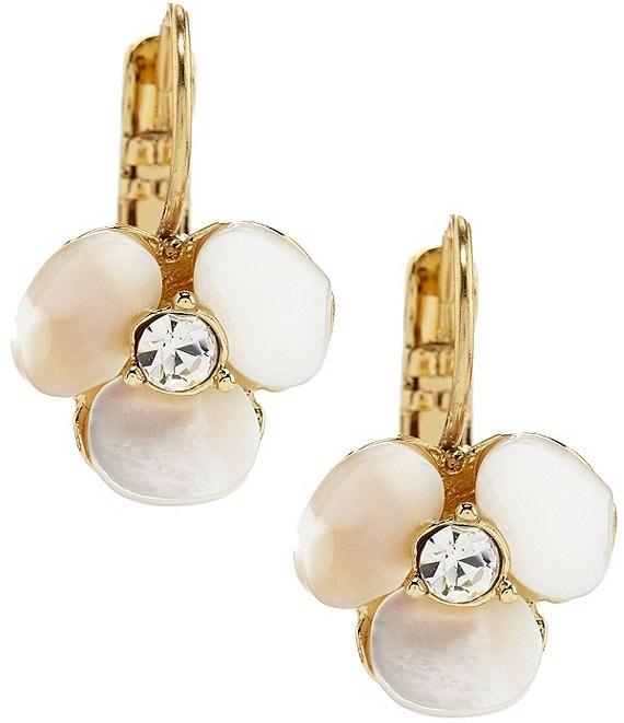 80d341378 kate spade new york Disco Pansy Drop Mother-of-Pearl Earrings | Dillard's