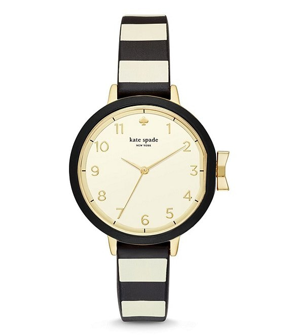 kate spade new york Park Row Striped Silicone-Strap Watch