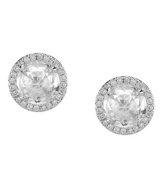kate spade new york Pave Halo Stud Earrings