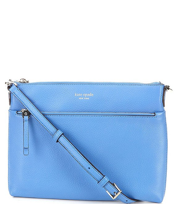 Color:Deep Cornflower - Image 1 - Polly Medium Top Zip Crossbody Bag