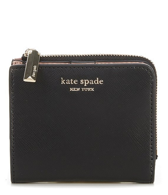Color:Black - Image 1 - Spencer Leather Small Bi-Fold Wallet