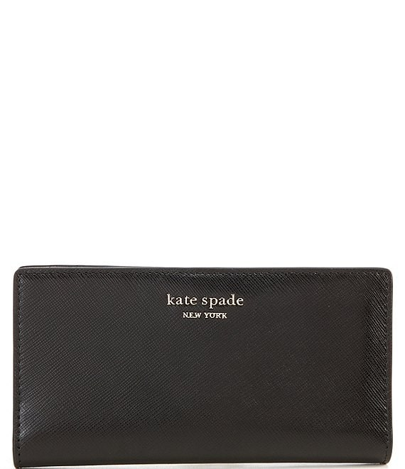kate spade new york Spencer Leather Slim Bifold Snap Wallet