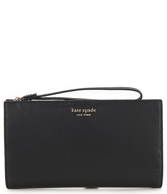 Color:Black - Image 1 - Sylvia Large Continental Wristlet
