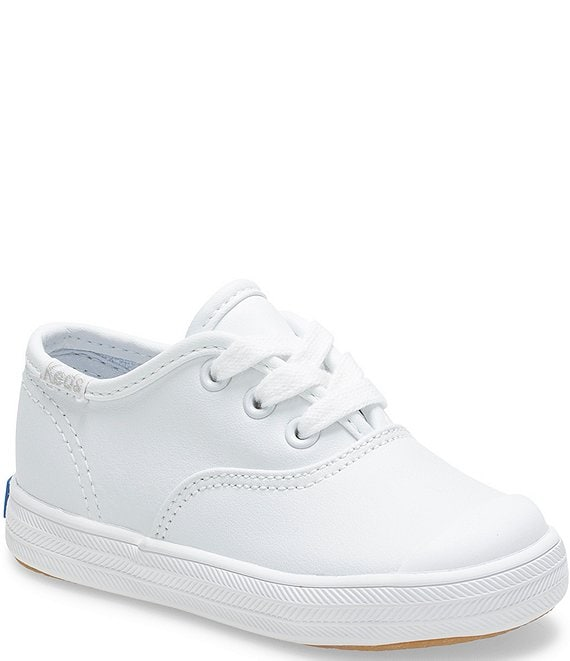 Keds Girls' Champion Leather Cap-Toe Sneakers (Infant)