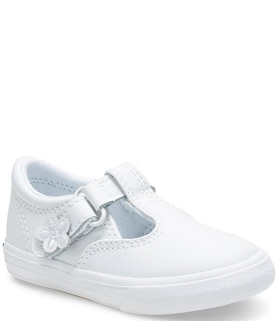Color:White - Image 1 - Girls' Daphne Flower Detail Sneakers (Infant)